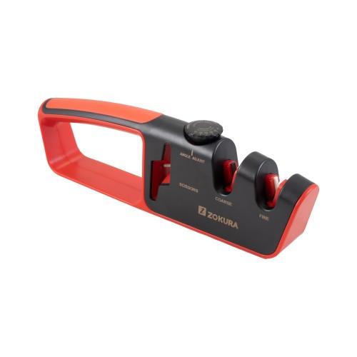 Adjustable angle knife sharpener