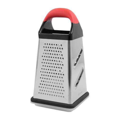 The 4-sided grater with a collecting recipient