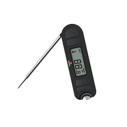 Instant read folding meat thermometer with bottle opener