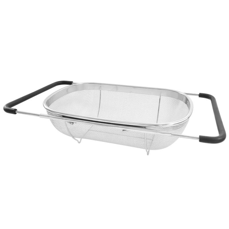 Stainless steel strainer, 34 x 24 x 11 cm diameter