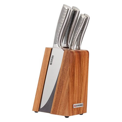6 Piece Knife Set Magnetic Support