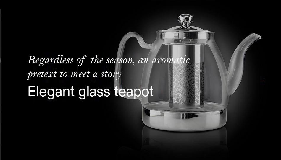 Ceainic elegant din sticla